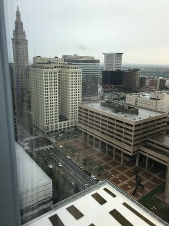 View of Tower City to the left