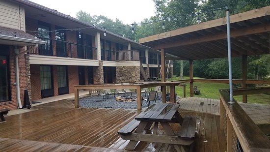 Ghent, WV: The party deck backing onto your minimally sound insulated room.