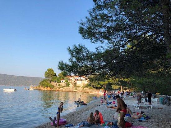 Valun, Kroasia: Spiaggia