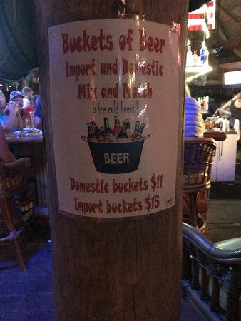 Crescent City, FL: Buckets of Beer $11