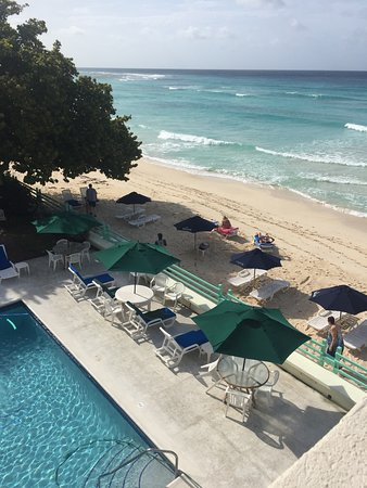 Worthing, Barbados: View from penthouse balcony