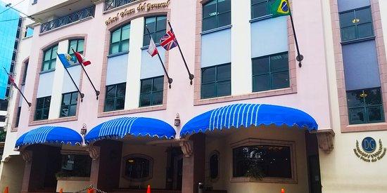Hotel Plaza del General: Fachada del Hotel, vista de la calle