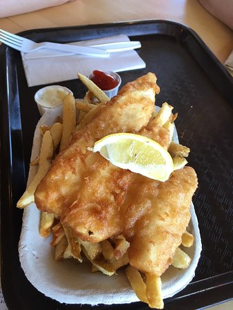Montgomery's Fish & Chips: halibut