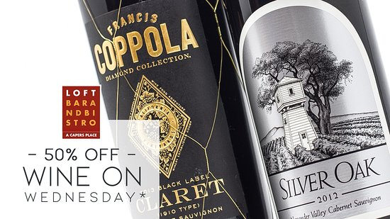 50% off Wine Wednesday *See more for details.