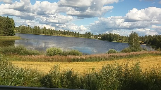 Alavus, Finland: Landscape is scattered by lakes.