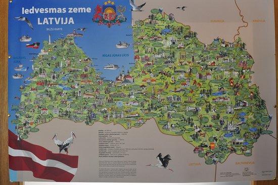 Nica, ลัตเวีย: Карта внутри