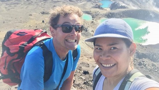 Turangi, New Zealand: In the moment hiking the Tongariro Alpine Crossing :-)