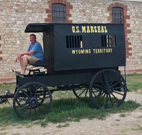 Wyoming Territorial Prison State Historic Site: Prisoner transport wagon