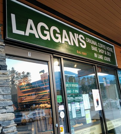 Laggan's Mountain Bakery & Delicatessen: front signage