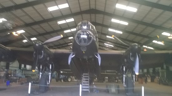 East Kirkby, UK: Lancaster in hanger