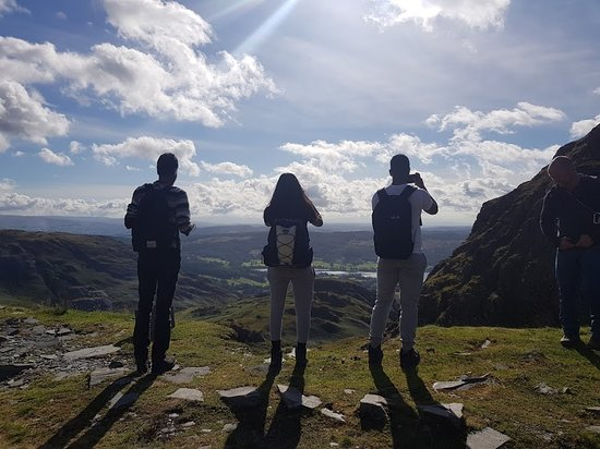 Ambleside, UK: Taking photos on Coniston Old Man