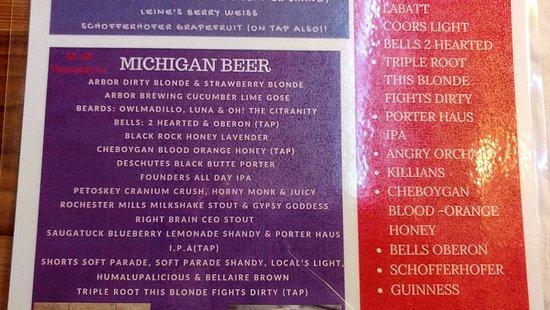 Michigan Beer - Picture of Porter Haus, Gaylord - TripAdvisor