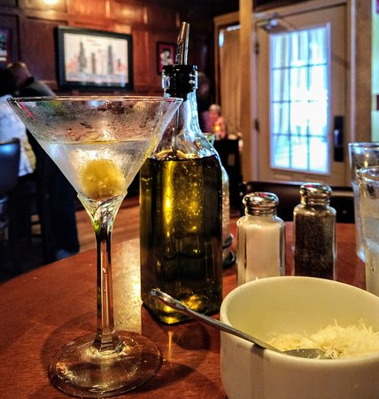 Richmond, IL: NICE martini with blue cheese olive!