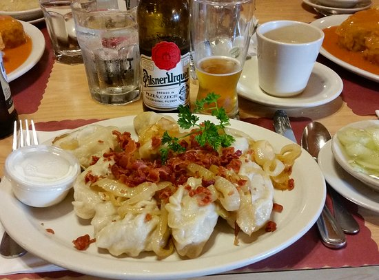 Westchester, IL: Sauerkraut pierogies and Czech beer
