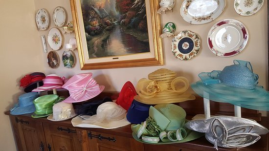Columbiana, AL: Hats used for English Afternoon Tea parties.