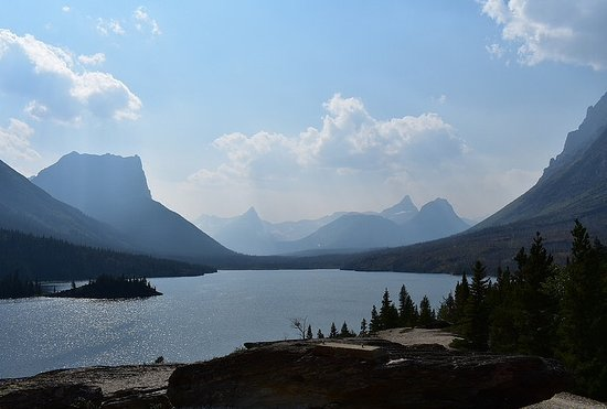 East Glacier Park, MT: Sun Point Nature Trail, East Entrance, GNP