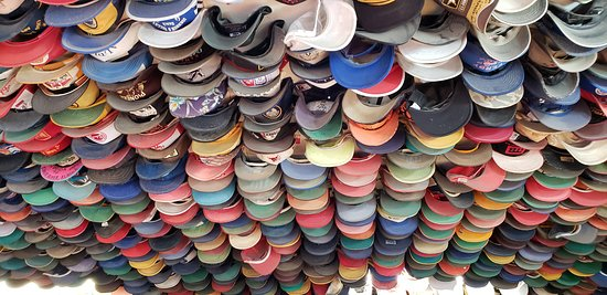Toad River, Canada: Hat collection in the restuarant