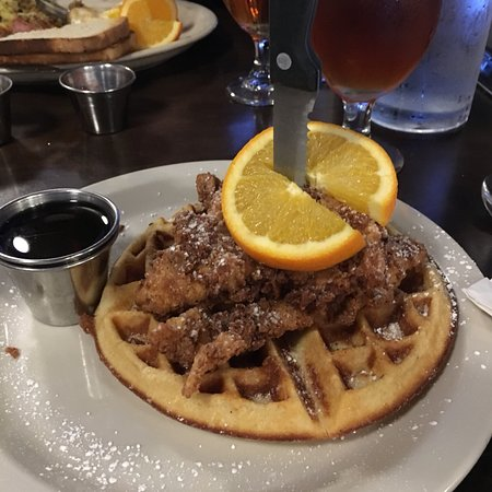 Brick & Mortar Cafe: Chicken and waffles