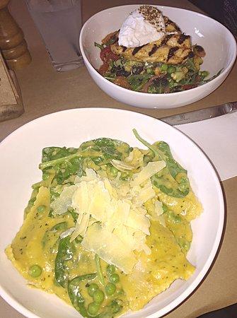 Inverleigh, Australia: Ravioli and Roasted vegetable salad