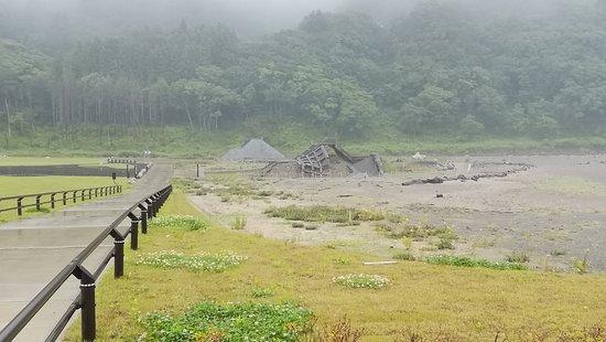 田野畑村, 岩手県, 壊された堤防