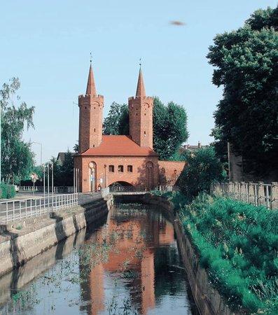 Stargard Szczecinski, Polandia: Entrata del parco comunale