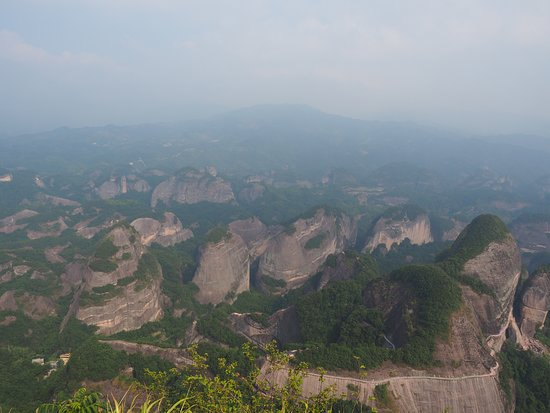 Bajiaozhai National Forest Park: View from the top
