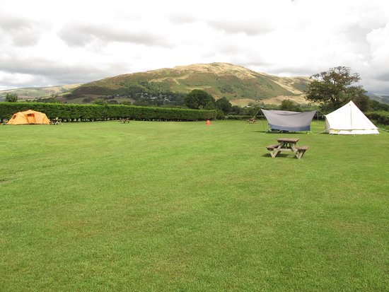 Bryncrug, UK: General view of tent field