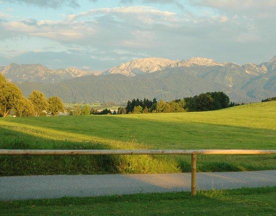 Rosshaupten, Alemanha: Gartenblick nach Osten
