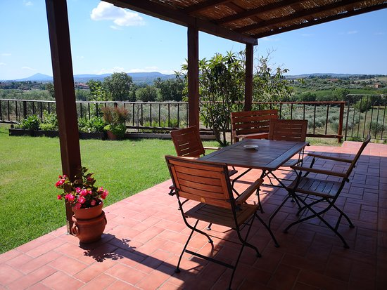 Abbadia di Montepulciano, Italie : patio