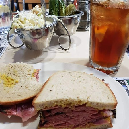 Richard's Deli: Corned beef with tray of salads