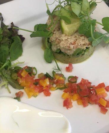 Sulgrave, UK: Crab & Avocado Starter