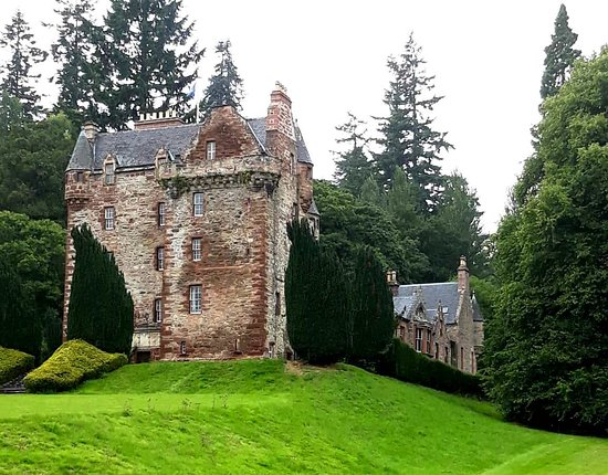 Highland's Castle, in Strathpeffer, Castle Leod is standing proud to be admired...