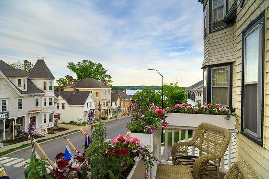 Pentagoet Inn Restaurant Overlooking The Beautiful Town Of Castine