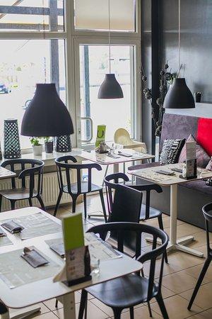 Mielec, Pologne : Olvike Boulangerie - wnętrze