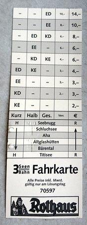 Seebrugg, Deutschland: Ticket