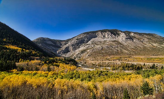 Pincher Creek, Canada: A characteristic view of the southern Rocky Mountain landscape.