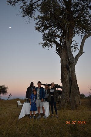 Elephant's Eye, Hwange: sundowners...