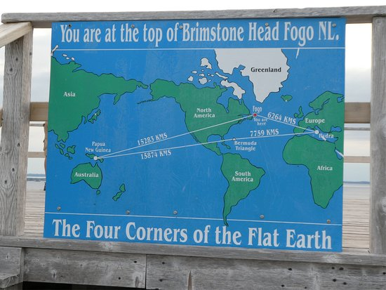 The Four Corners of the Flat Earth   Picture of Brimstone Head
