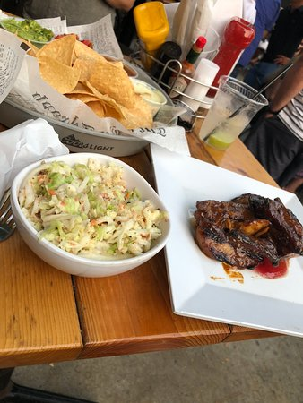 Victoria, MN: PB&J Pork belly with Pineapple Bacon Coleslaw