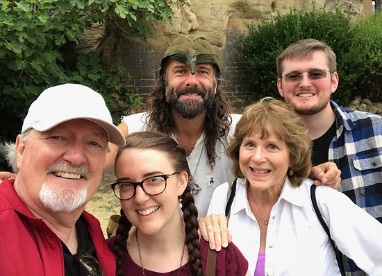 Nottingham Robin Hood Town Tour: Ezekial Bone and our group