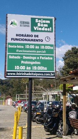 Feirinha de Itaipava: Entrada
