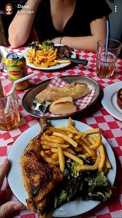 Steak Frites and Half of a Chicken