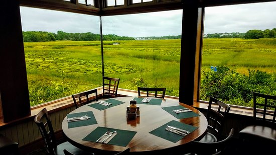 Marshside Restaurant: My favorite table--when I can get five other people to dine with me