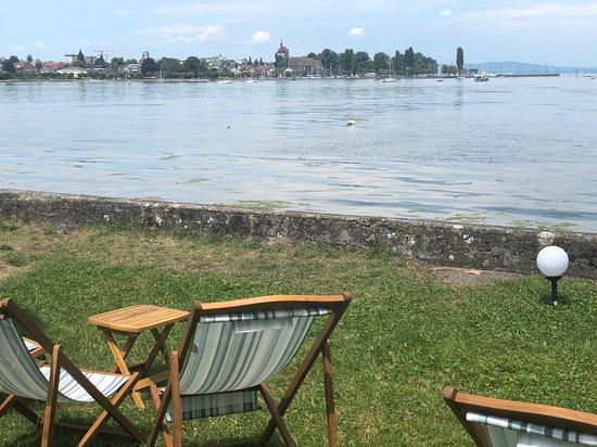 Steinach, Sveits: Aussicht von den Liegestühlen
