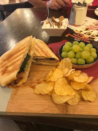 Willingdon, UK: bbq rib panini - meat only covered 2/3's of it :(