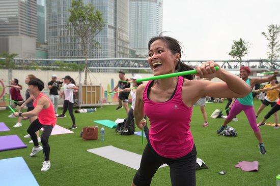 Hong Kong Observation Wheel: Free health classes at the park