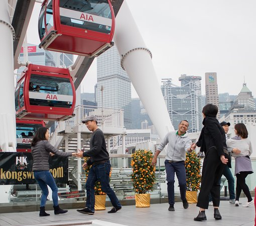 Hong Kong Observation Wheel: swing dance event