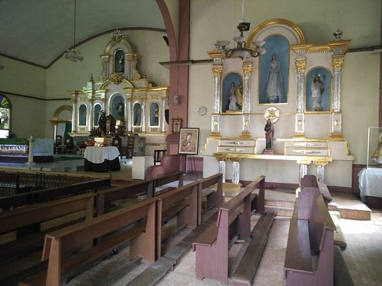 Sibulan, Philippines: a closer shot of the altar
