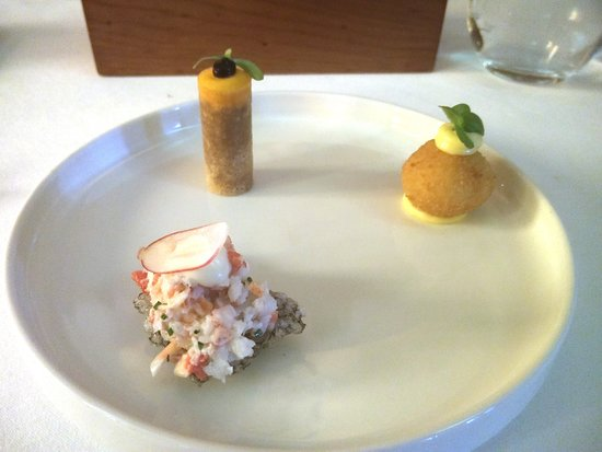 Lobster tartar, rabbit/carrot