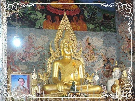 Wat Phra That Cho Hae : พระประธานในพระอุโบสถ